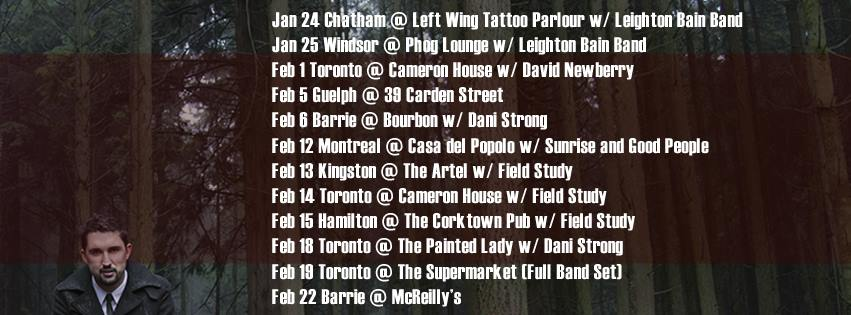 ontario tour dates 2014